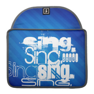 Sing; Royal Blue Stripes. Sleeves For MacBook Pro