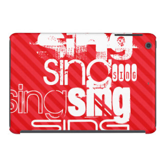 Sing; Scarlet Red Stripes iPad Mini Cover
