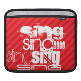 Sing; Scarlet Red Stripes Sleeve For iPads