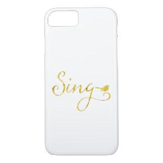 Sing Song Bird Gold Faux Glitter Metallic Sequins iPhone 8/7 Case