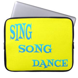 Sing Song Dance Art laptop Sleeve
