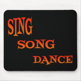 Sing Song Dance Art Mouse Pad