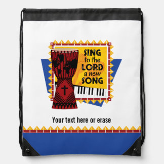 Sing to the LORD a New Song Drawstring Backpack
