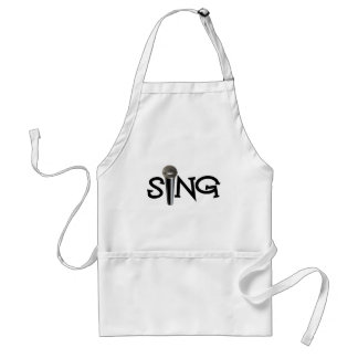 Sing with Microphone Adult Apron