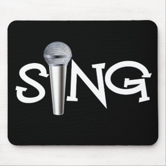 Sing with Microphone Mouse Pad