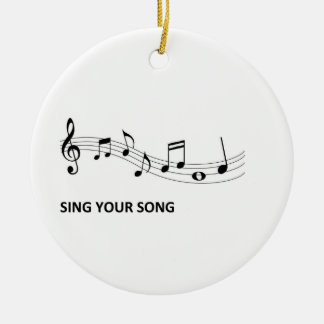 Sing Your Song Ceramic Ornament