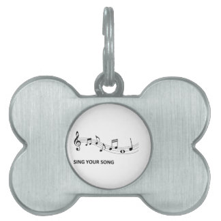 Sing Your Song Pet Name Tag