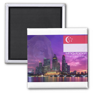 Singapore 2 Inch Square Magnet