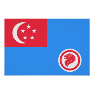 Singapore Air Force Service, Singapore flag Posters