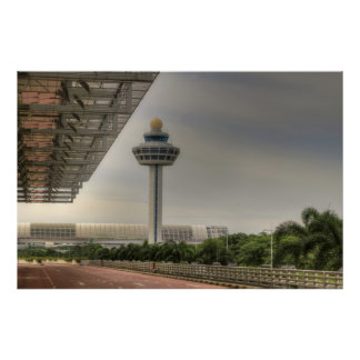 Singapore Airport Air Traffic Controller Tower Poster