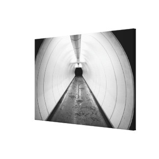 Singapore. An illuminated pedestrian tunnel in Canvas Print