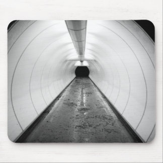 Singapore. An illuminated pedestrian tunnel in Mouse Pad