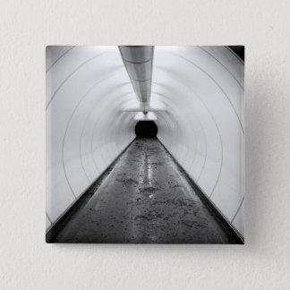 Singapore. An illuminated pedestrian tunnel in Pinback Button