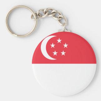 singapore basic round button keychain