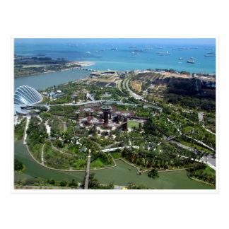 singapore bay gardens postcard