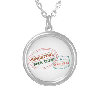 Singapore Been There Done That Silver Plated Necklace