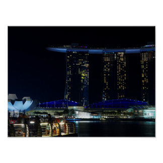 Singapore by Night Poster
