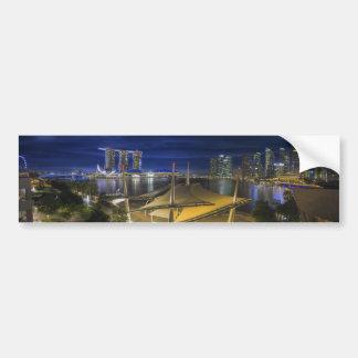 Singapore Central Business District CDB Cityscape Bumper Sticker