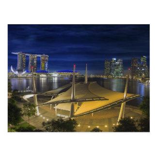 Singapore Central Business District CDB Cityscape Postcard