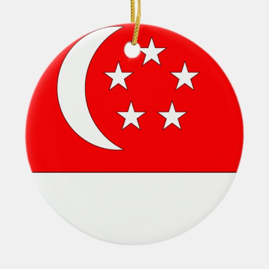 Singapore Ceramic Ornament