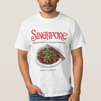 Singapore Chai Tau Kueh - Light Fabric T-shirt