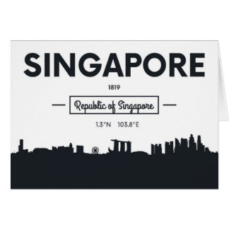 Singapore, China | City Coordinates Card