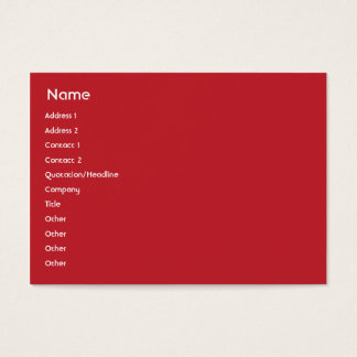 Singapore - Chubby Business Card