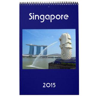 singapore city 2015 wall calendar