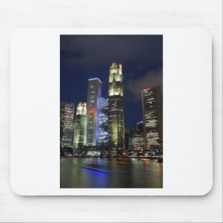 Singapore city and river at night mouse pad