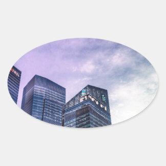 Singapore City Oval Sticker