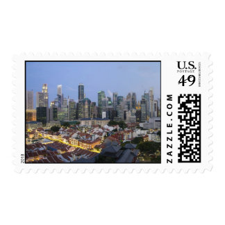 Singapore City Skyline Evening Postage