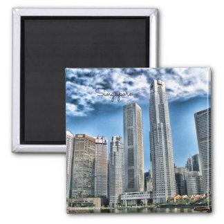 Singapore Cityscape 2 Inch Square Magnet