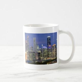 Singapore cityscape at dusk classic white coffee mug