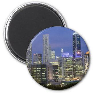 Singapore cityscape at dusk magnet