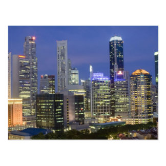 Singapore cityscape at dusk postcard