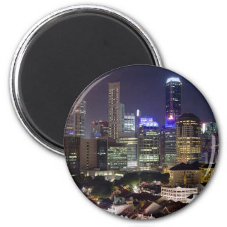 Singapore cityscape at night magnet