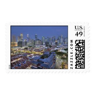 Singapore Cityscape Blue Hour Postage