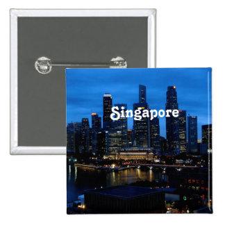 Singapore Cityscape Pinback Button