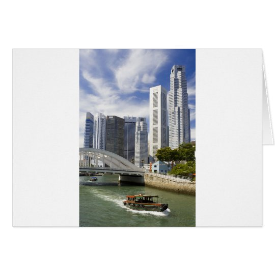 Singapore cityscape card