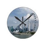 Singapore cityscape clock