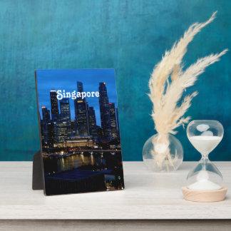 Singapore Cityscape Display Plaque