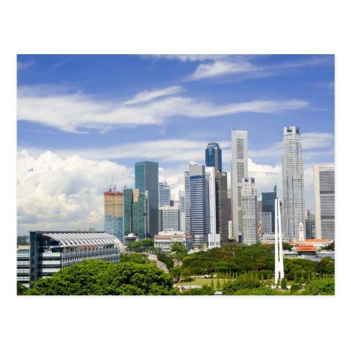 Singapore cityscape post card