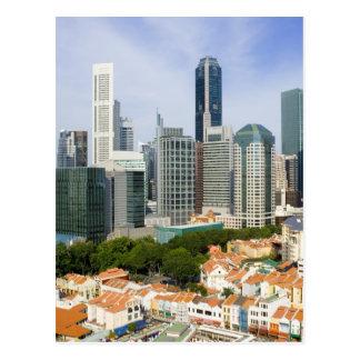 Singapore cityscape postcard