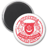 Singapore Coat of Arms 2 Inch Round Magnet