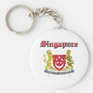 Singapore Coat Of Arms Basic Round Button Keychain