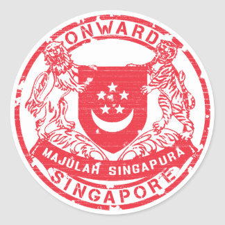 Singapore Coat of Arms Classic Round Sticker