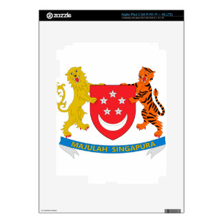 Singapore Coat of Arms Decals For iPad 3