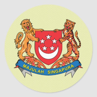 Singapore Coat of Arms detail Classic Round Sticker