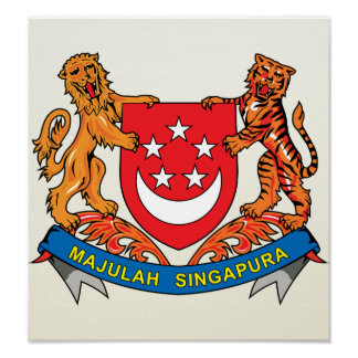 Singapore Coat of Arms detail Print