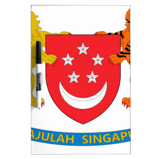 Singapore Coat of Arms Dry-Erase Whiteboard